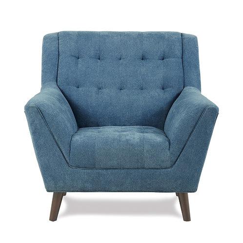 Erath Henry Mid-Century Modern Blue Chair