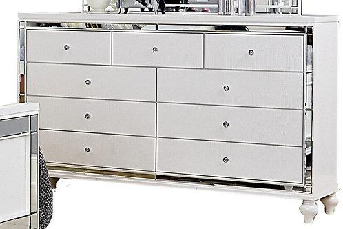 Alonza Henry White Mirrored Dresser