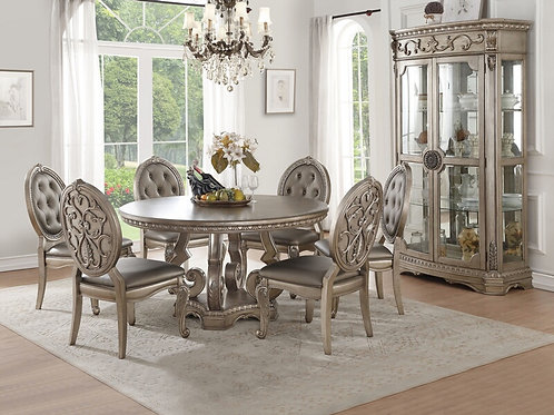 Northville All Antique Champagne Finish Round Table