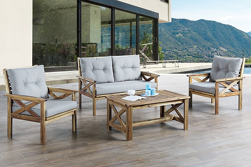 449 Port 4pc Patio Set ( Loveseat, 2 Arm Chairs, 1 Cocktail Table)