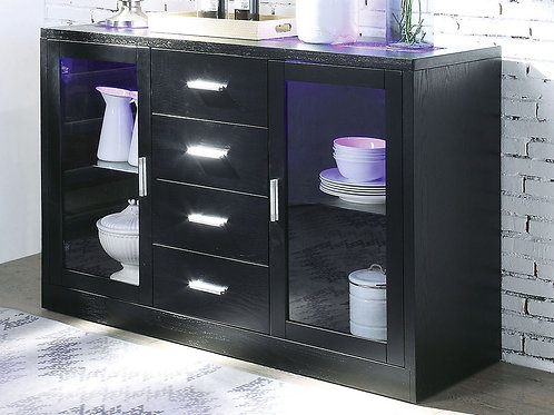 Bernice All Black Finish Server