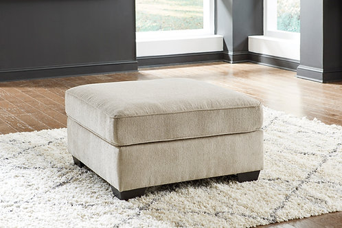 Decelle Angel Beige Fabric Oversized Ottoman