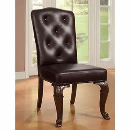 BELLAGIO Imprad Leather-Like Traditional Chair