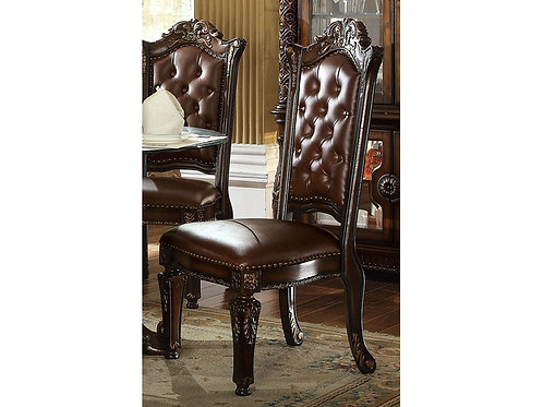 Vendome All Side Chair PU/Cherry Finish