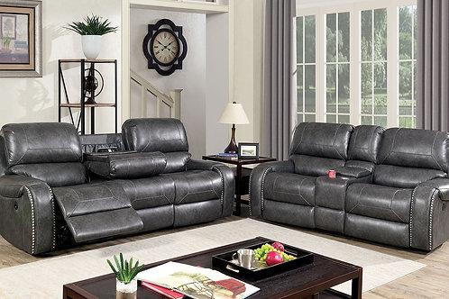 WALTER Imprad Gray Reclining Sofa
