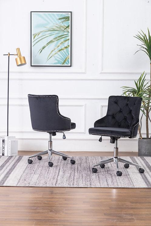 Best OC45 Black Velvet Tufted Adjustable Office Chair