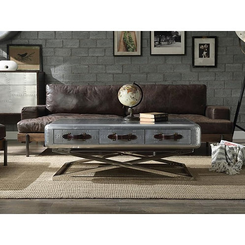 Silhester All Sofa Chocolate Top Grain Leather