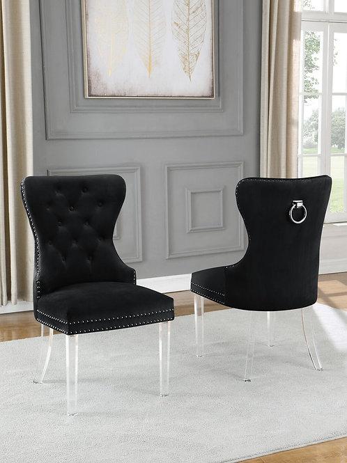 Best Q SC52 Velvet Gray/Acrylic Black Chair