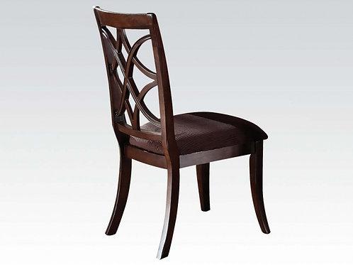 Keenan All Brown Microfiber Side Chair Dark Walnut Finish