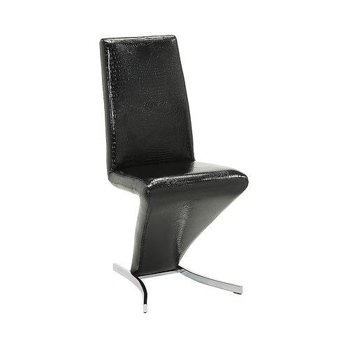 Barzini Cali Upholstered Side Chair Black