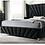 Thumbnail: CARISSA Imprad Transitional Black Velvet Winged Back Bed Frame