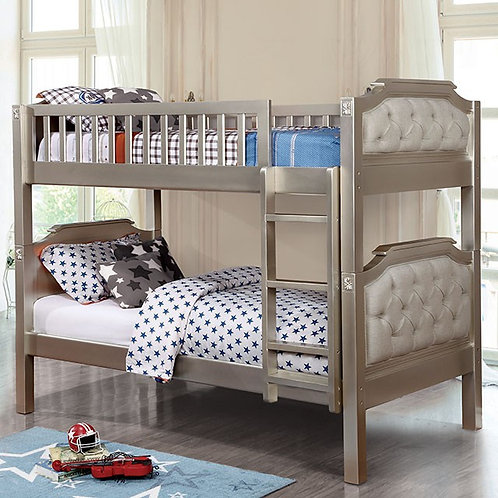 BEATRICE Imprad Champagne Twin/Twin Bunk Bed
