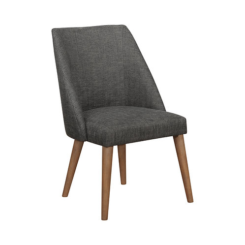 Beverly Cali Upholstered Side Chair Dark Grey And Dark Cocoa