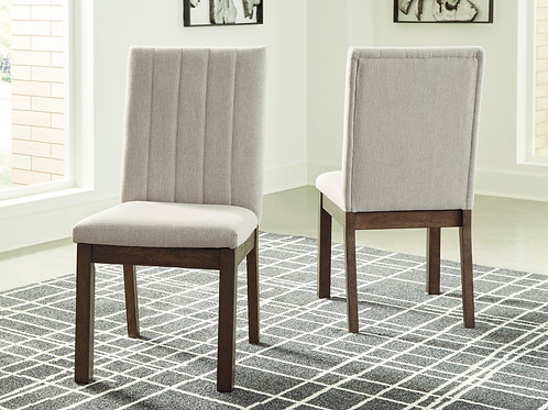 Dellbeck Angel Brown - Beige Fabric Side Chairs