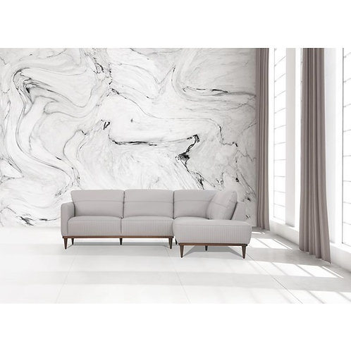 Tampa All Leather Grey Sectional Sofa