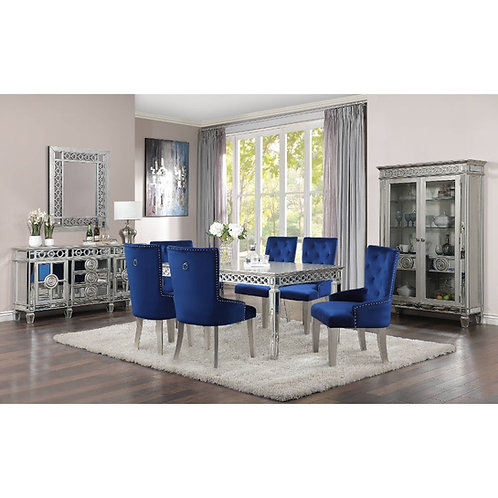"Varian All Dining Table (90""L) Glam, Vintage - Mirror, Wood (Poplar/Rbw),"