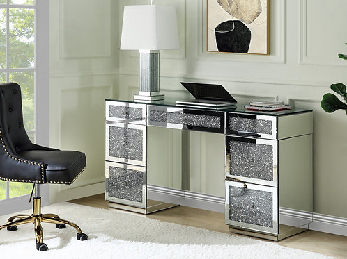 All Glam Noralie 93120 Mirrored Writing Desk