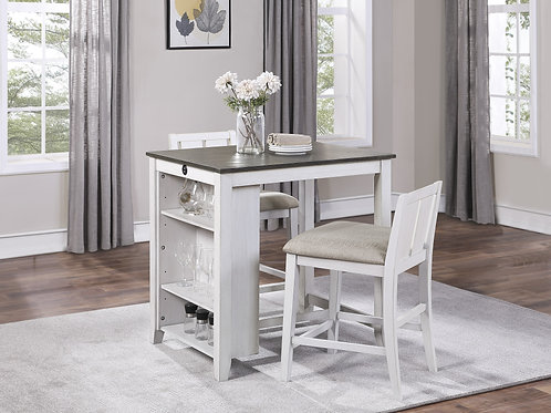Daye Henry 3-Piece Pack Counter Height Set White