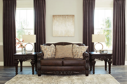 Angel Traditional Leather Embrook Loveseat