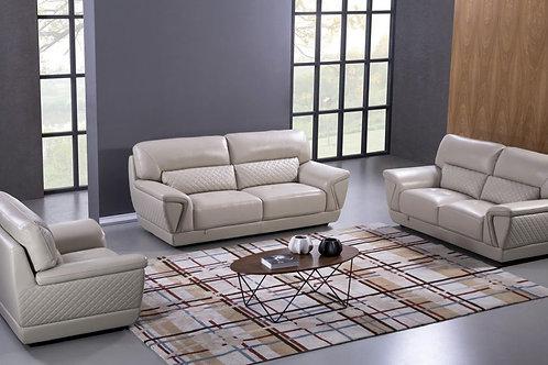 099 AE Light Gray Italian Leather Sofa