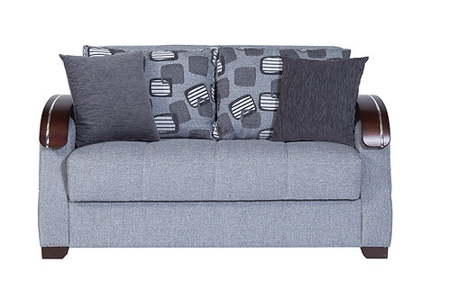 Diva Capetown Rock Gray Fabric Loveseat Sleeper