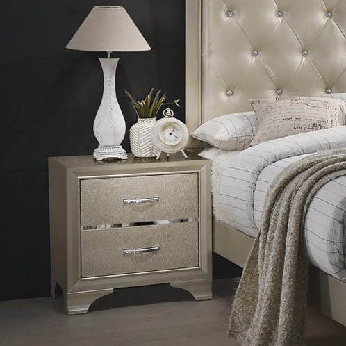 Cali Beaumont Transitional Glam Champagne Night Stand