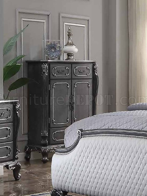 House Delphnie All Traditional Charcoal with Silver Trim Chest