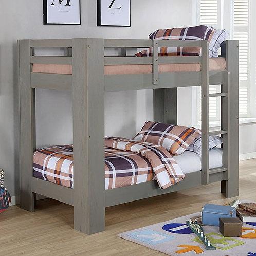SUZIE Imprad Twin/Twin Gray Bunk Bed