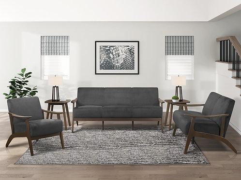 Carlson Henry Mid Century Dark Gray Velvet Sofa