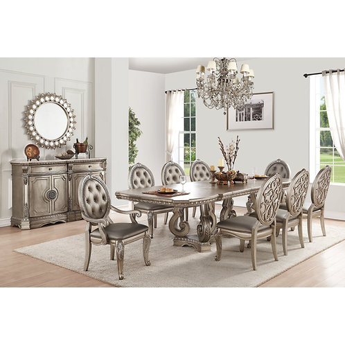 Northville All Dining Table Antique Champagne Finish