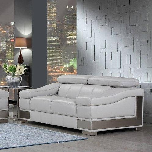 415 Grey GU Loveseat Italian Leather