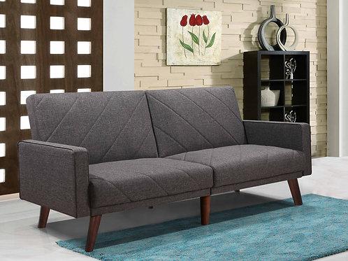 9230 Milt Gray Linen Futon