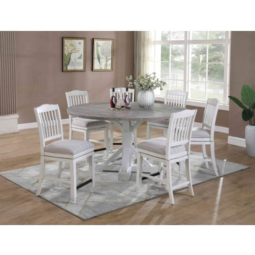 Emeral Centerville Antique Round Dining Table w/Drop leaf