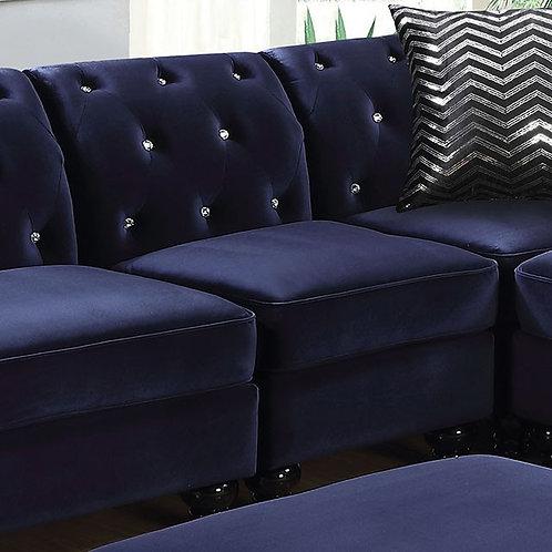 JOLANDA II Imprad Blue Armless Chair
