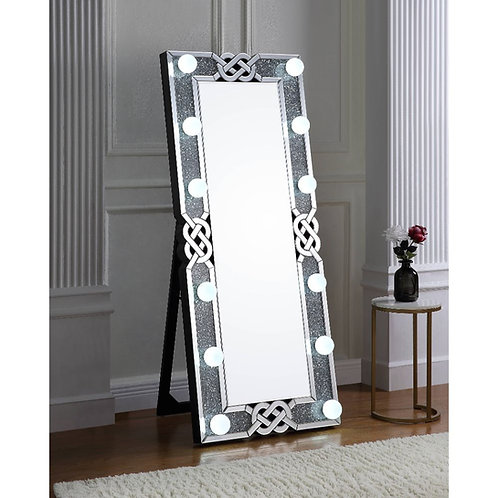 All  Noralie Wall Decor - 97758 - Glam - LED Light, Mirror, Glass Mirror