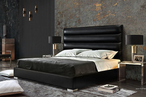 Bardot Dream Black Faux Leather Bed