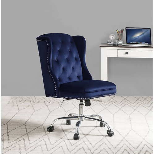 Jamesia Office Chair All Vintage - Velvet, Metal Tube - Midnight Blue Velv