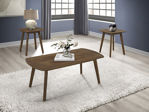 Damala Henry Walnut Coffee Table + 2 End Tables