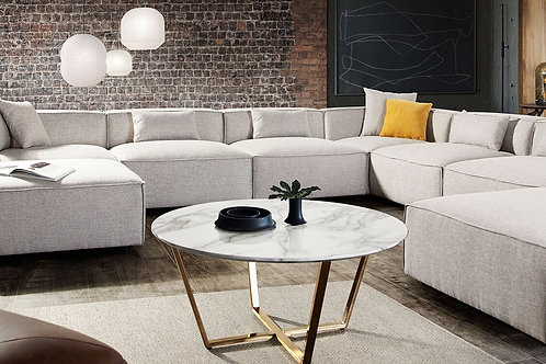 9 PC Sectional Vice Dream Sectional Barley Fabric