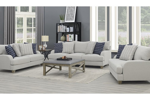Emeral Laney Gray Linen Sofa w/4 Pillows