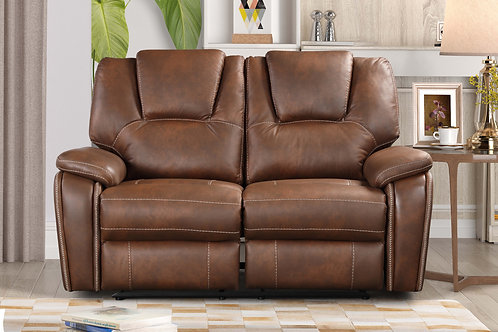 8083 Mg Brown Reclining Loveseat