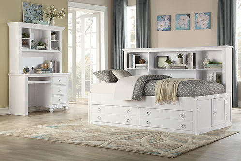 HENRY Meghan White Finish Lounge Storage Bed