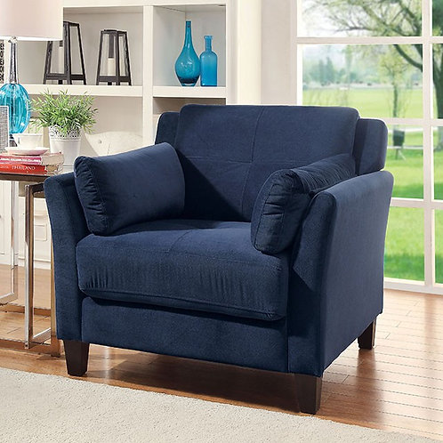 YSABEL Imprad Navy Chair Contemporary