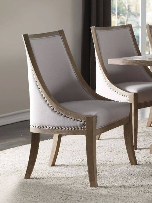 Eleonore All Taupe Linen Chair