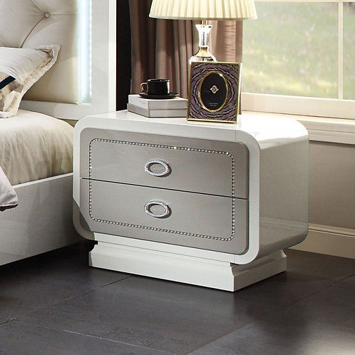 Alendale All High Gloss White Nightstand