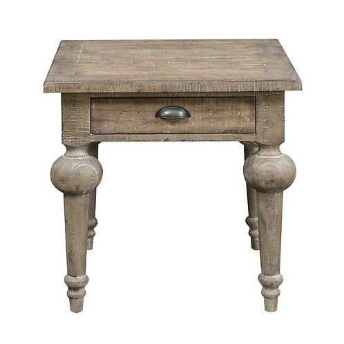 Emeral Interlude Rustic Sandstone End Table