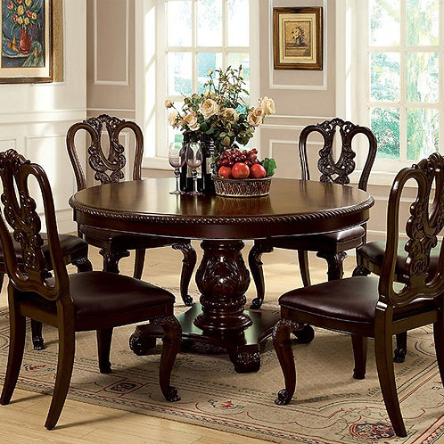 BELLAGIO Imprad Brown Cherry Traditional Round Table