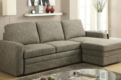 Derwyn All Sectional Sofa Light Brown Linen
