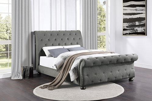 Henry Crofton Gray Sleigh Bed