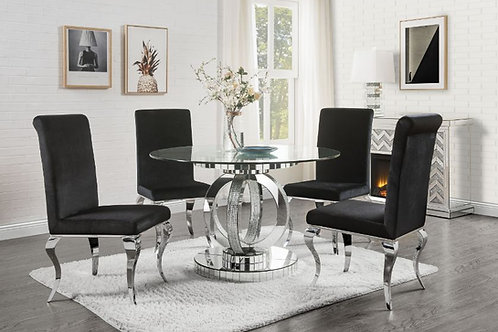 All Ornat 77835 Glam Round Glass Dining Table
